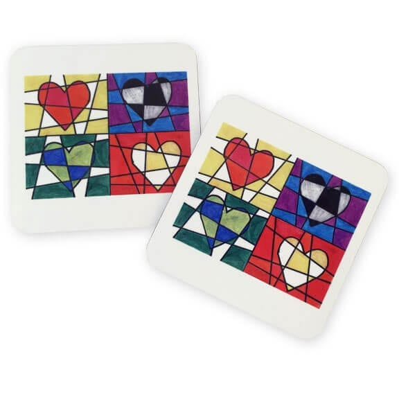 coasters: an art fundraiser product