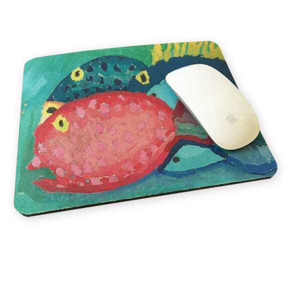 mousepad: an art fundraiser product