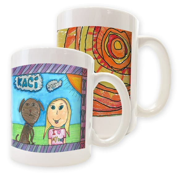 Ceramic mugs: art fundraiser products
