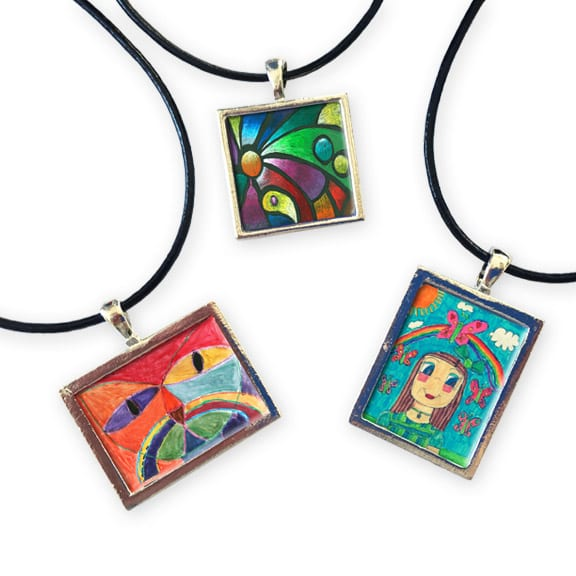 art pendants: an art fundraiser product
