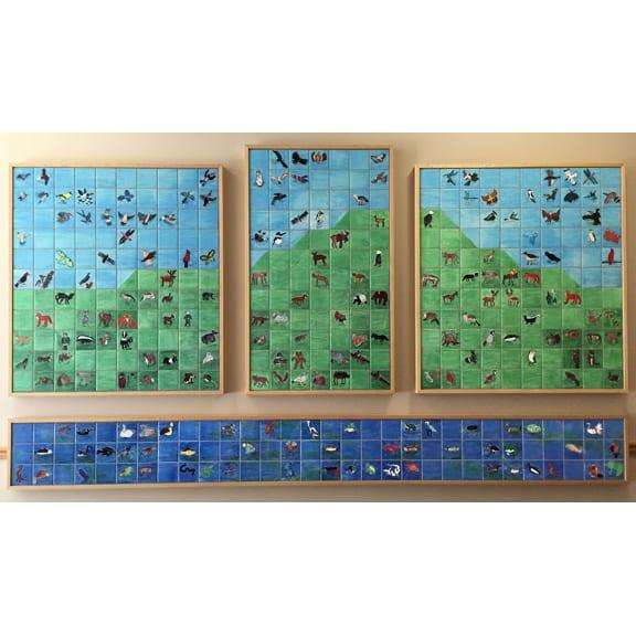 4.25x4.25 Satin Tiles