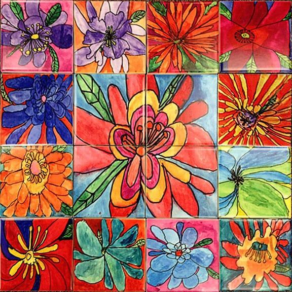 6x6 Satin Tiles 2