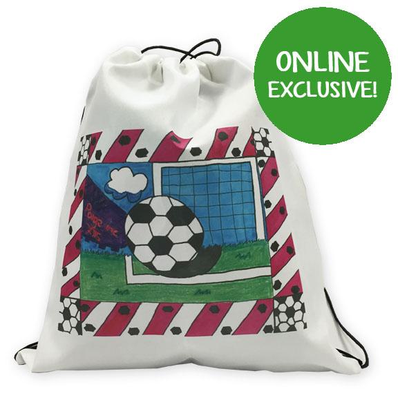 drawstring sports bag: an art fundraiser product