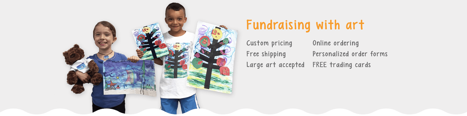 Fundraising With Art Banner