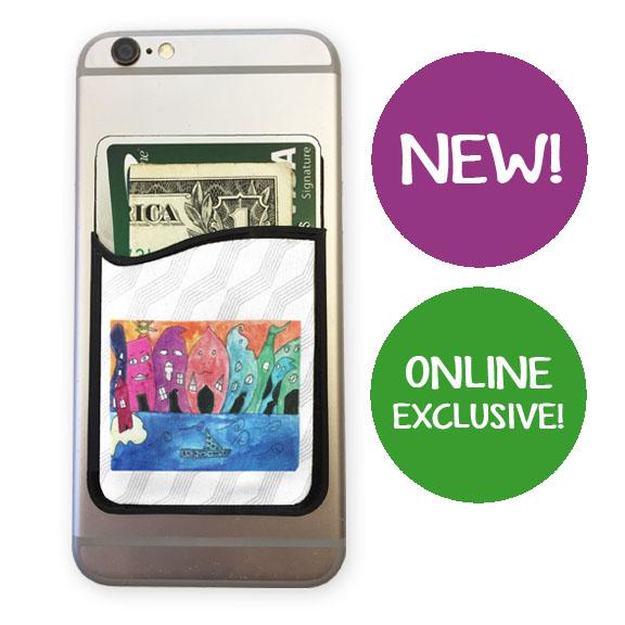 phone wallet: an art fundraiser product