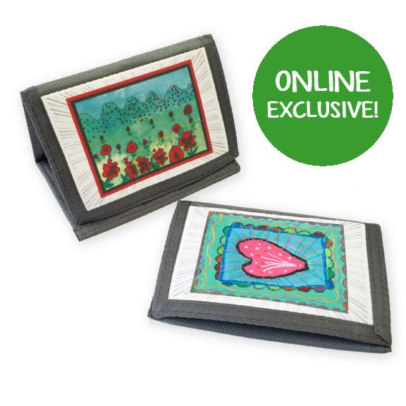 nylon wallet: an art fundraiser product