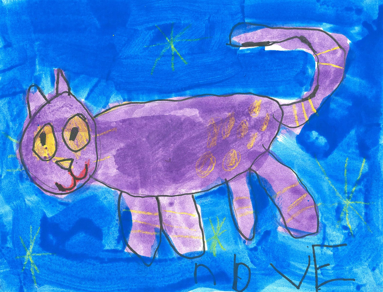 My Favorite Animal or Pet Artwork by Evan at LaCosta Meadows Elementary