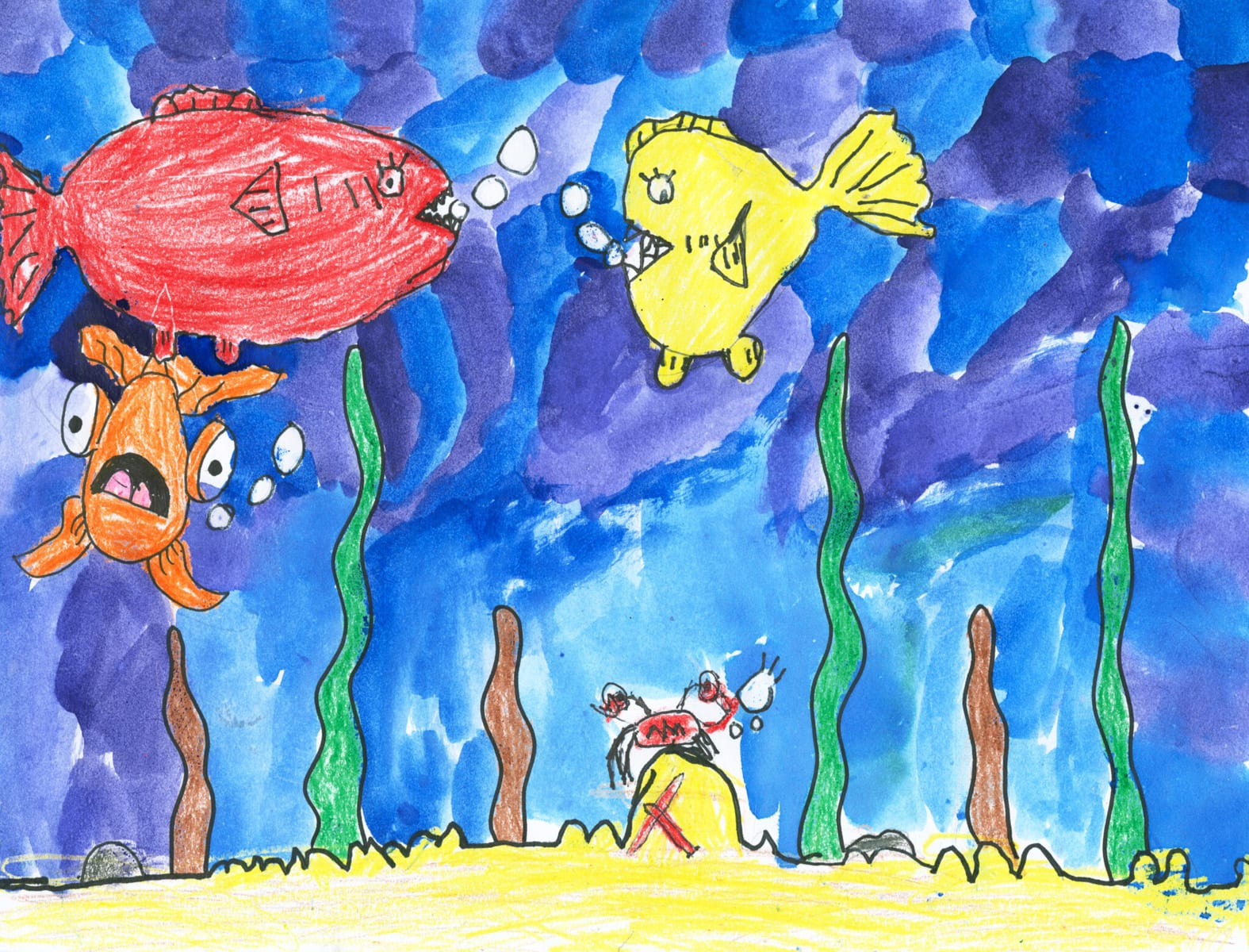 Under the Sea Lesson Artwork by Isabelle at Roessleville Elementary