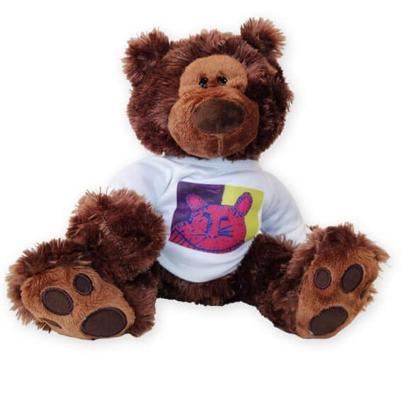stuffed bear with shirt: an art fundraiser product