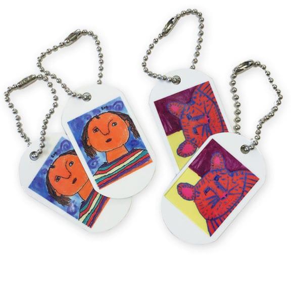 dog tags: an art fundraiser product