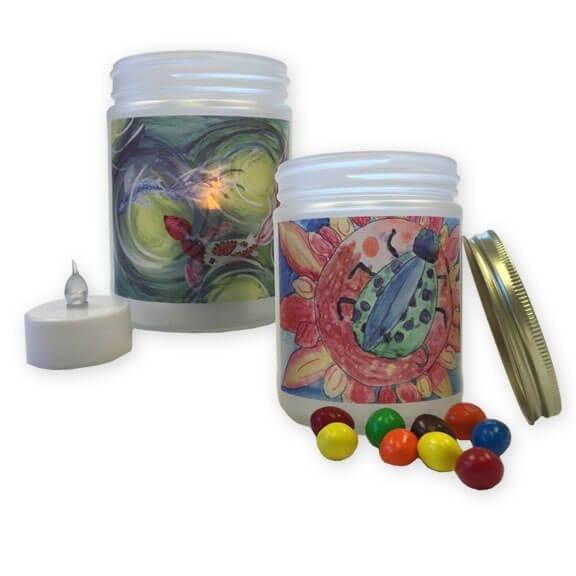 Mason Jar: an art fundraiser product