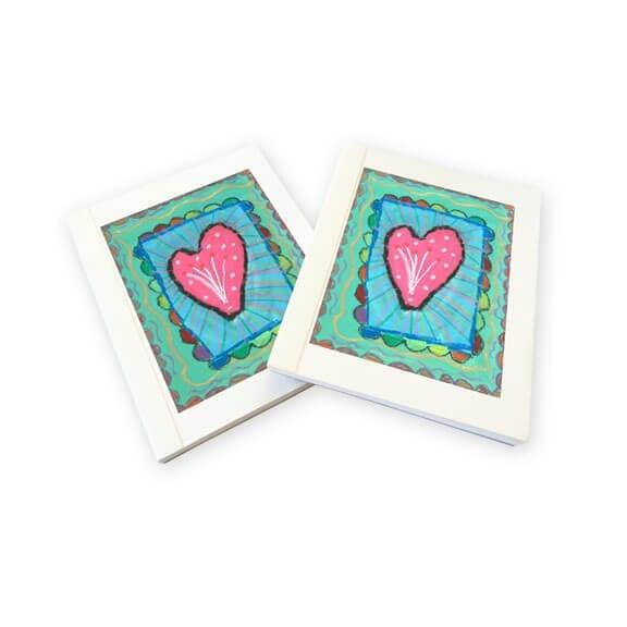 mini notepads: an art fundraiser product