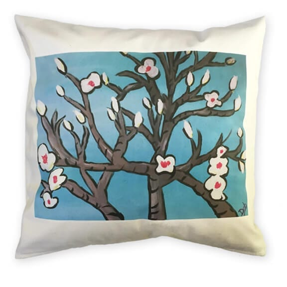 throw pillow: an art fundraiser product