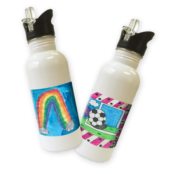 Waterbottle: an art fundraiser product