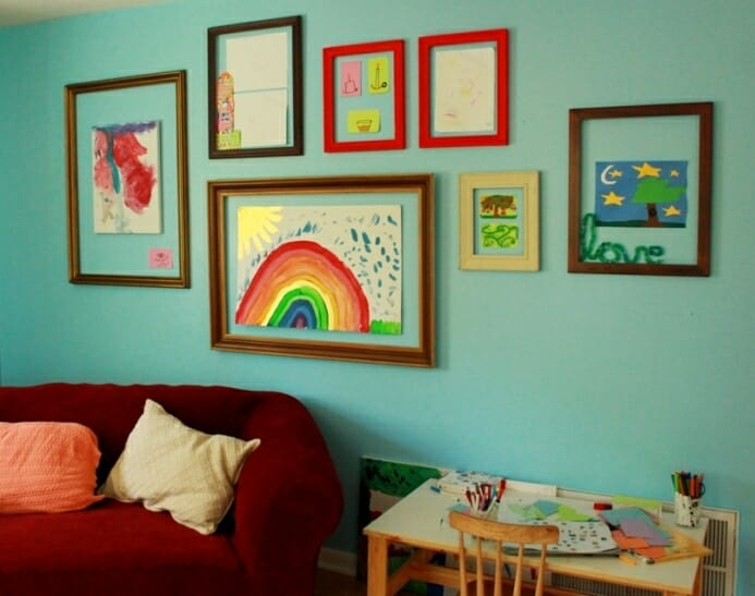 9 Ways to Display Your Kids' Art!
